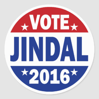 Vote Jindal 2016 Classic Round Sticker