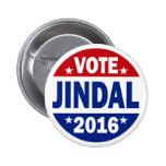 Vote Jindal 2016 Pinback Buttons