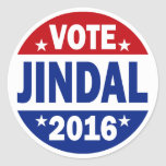 Vote Jindal 2016 Stickers