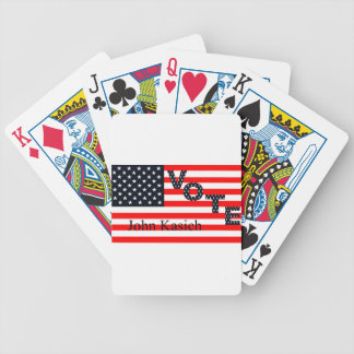 Vote John Kasich for President 2016 Bicycle Playing Cards