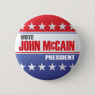Vote John McCain For President Pinback Button