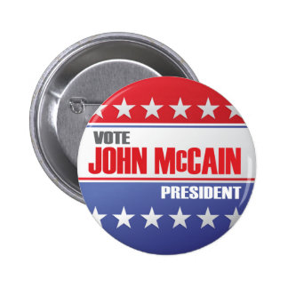 Vote John McCain For President Pinback Button