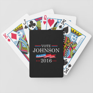 Vote Johnson 2016 Bicycle Playing Cards
