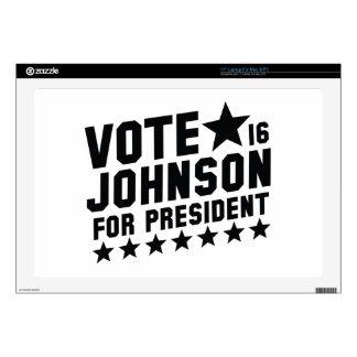Vote Johnson 2016 Laptop Skins