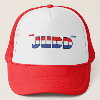 Vote Judd 2010 Elections Red White and Blue Trucker Hat
