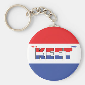 Vote Keet 2010 Elections Red White and Blue Keychain