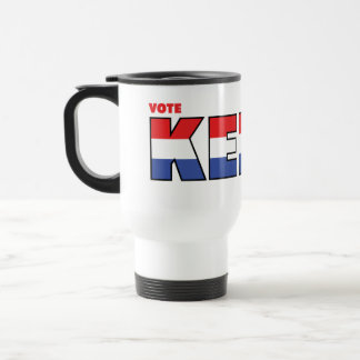 Vote Kelly 2010 Elections Red White and Blue Travel Mug