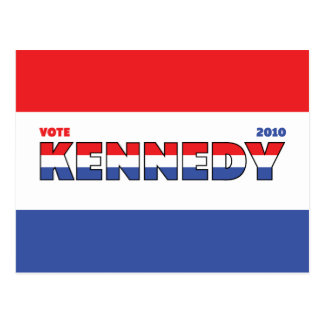 Vote Kennedy 2010 Elections Red White and Blue Postcard