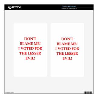 VOTE KINDLE FIRE DECALS
