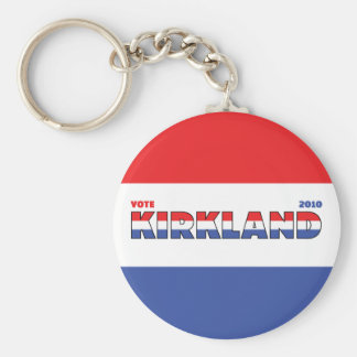 Vote Kirkland 2010 Elections Red White and Blue Keychains