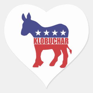 Vote Klobuchar Democrat Heart Sticker
