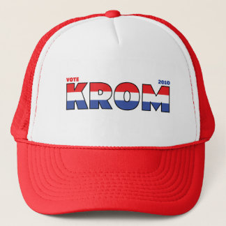 Vote Krom 2010 Elections Red White and Blue Trucker Hat