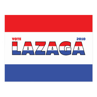 Vote Lazaga 2010 Elections Red White and Blue Postcards