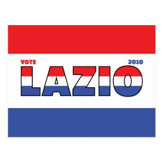 Vote Lazio 2010 Elections Red White and Blue Postcard