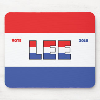 Vote Lee 2010 Elections Red White and Blue Mouse Pad
