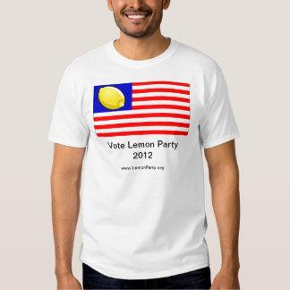 Vote Lemon Party 2012 Shirt