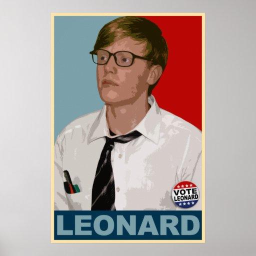 Vote Leonard! Poster
