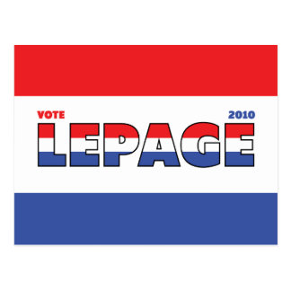 Vote LePage 2010 Elections Red White and Blue Postcard