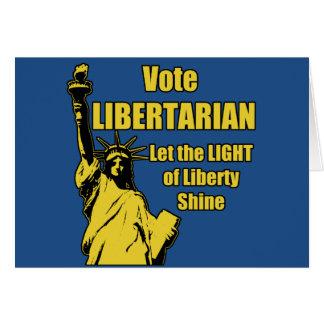 Vote Libertarian Greeting Card