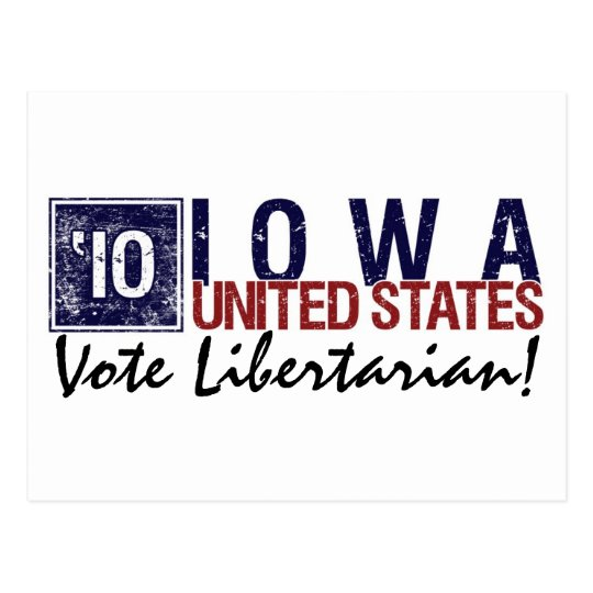 Vote Libertarian in 2010 – Vintage Iowa Postcard