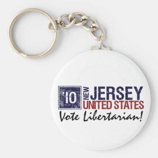 Vote Libertarian in 2010 – Vintage New Jersey Keychain