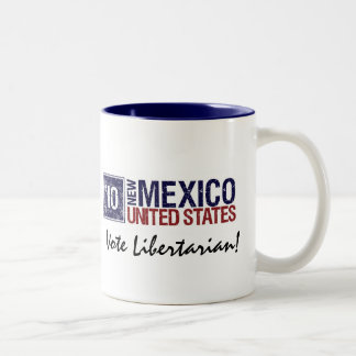 Vote Libertarian in 2010 – Vintage New Mexico Two-Tone Coffee Mug