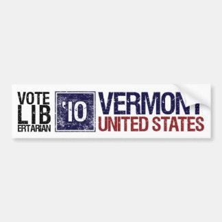 Vote Libertarian in 2010 – Vintage Vermont Bumper Sticker