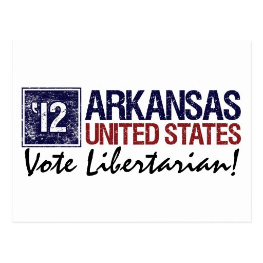 Vote Libertarian in 2012 – Vintage Arkansas Postcard