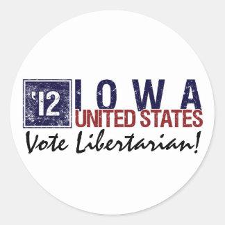 Vote Libertarian in 2012 – Vintage Iowa Stickers