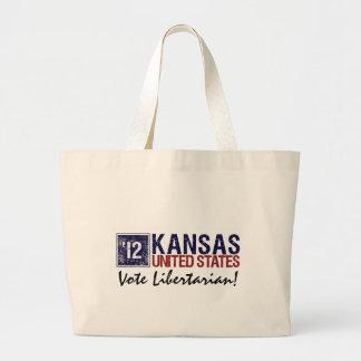 Vote Libertarian in 2012 – Vintage Kansas Tote Bags