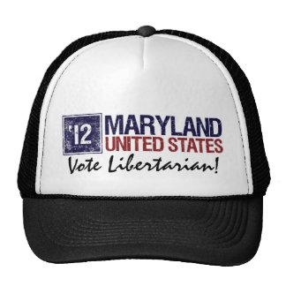Vote Libertarian in 2012 – Vintage Maryland Trucker Hat