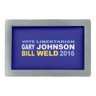 Vote Libertarian Johnson-Weld 2016 Belt Buckle