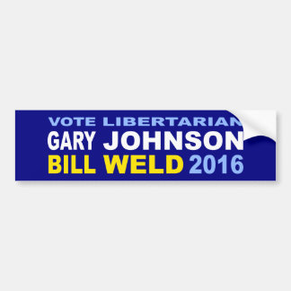 Vote Libertarian Johnson-Weld 2016 Bumper Sticker