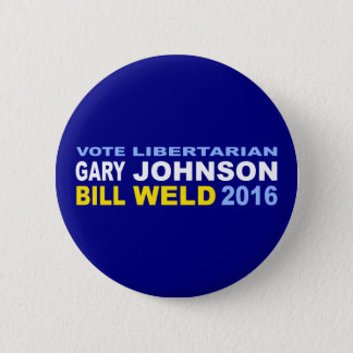 Vote Libertarian Johnson-Weld 2016 Button