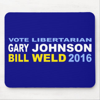 Vote Libertarian Johnson-Weld 2016 Mouse Pad