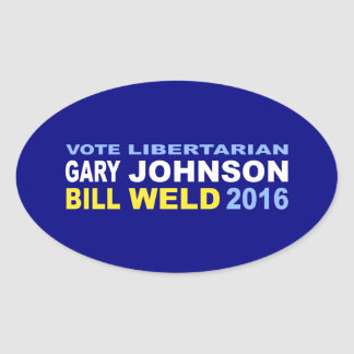 Vote Libertarian Johnson-Weld 2016 Oval Sticker