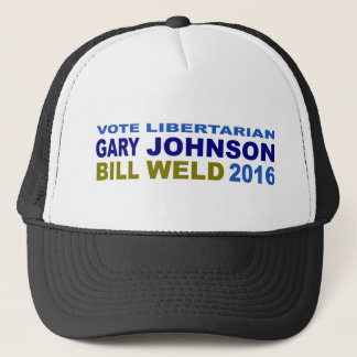 Vote Libertarian Johnson-Weld 2016 Trucker Hat