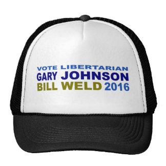 Vote Libertarian Johnson-Weld 2016 Trucker Hat