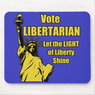 Vote Libertarian Mouse Pad