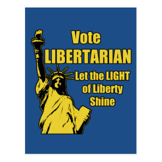 Vote Libertarian Postcard