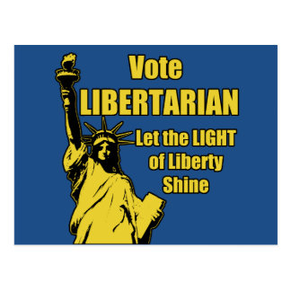 Vote Libertarian Post Cards
