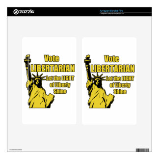 Vote Libertarian Decal For Kindle Fire