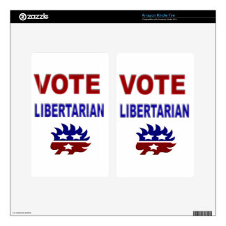 Vote Libertarian Skin For Kindle Fire