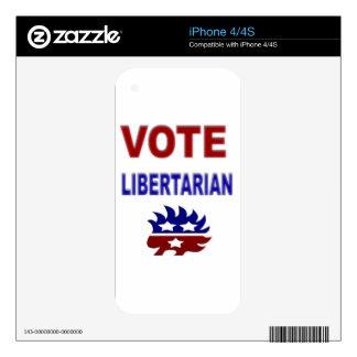Vote Libertarian iPhone 4S Skin