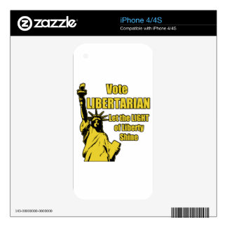 Vote Libertarian Decals For iPhone 4