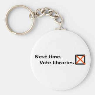 Vote libraries keyring key chains