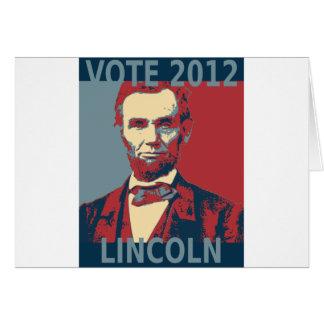 Vote Lincoln 2012 Card