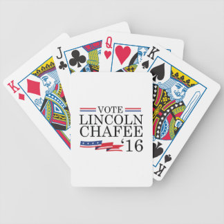 Vote Lincoln Chafee 2016 Bicycle Playing Cards
