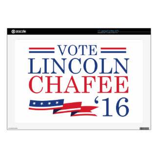 """Vote Lincoln Chafee 2016 Decal For 17"""" Laptop"""