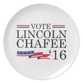 Vote Lincoln Chafee 2016 Melamine Plate